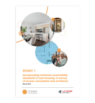 Incorporating minimum accessibility standards in new housing: A survey of access consultants and architects