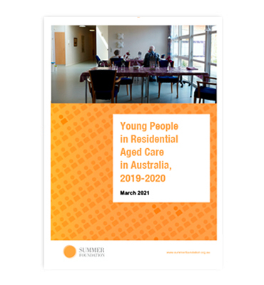 Young People in Residential Aged Care report cover